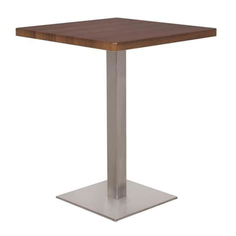 table bistrot exterieur table de bar table bistrot en mdf aspect bois de noyer