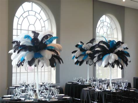 feather centerpieces flower and event decor ostrich feather centerpieces january 2012