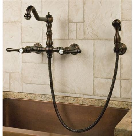 Laundry Room Faucet With Sprayer by Wall Mount Faucet With Side Spray Lever Handles