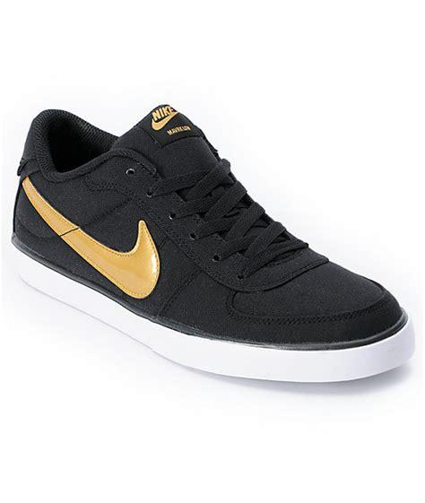 black and gold nike shoes nike 6 0 mavrk black gold shoe at zumiez pdp