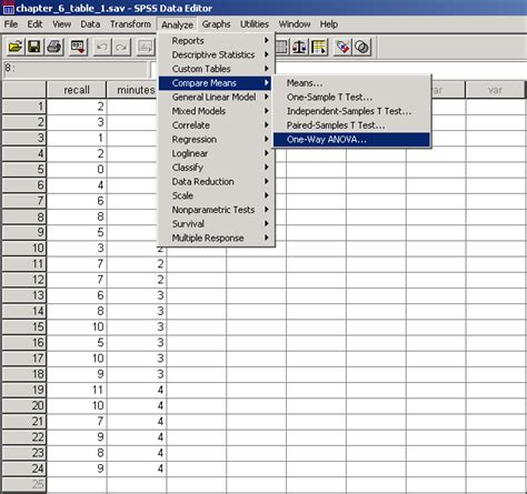 manual de spss 20 chapter 6 table 1 trend analysis through spss point and