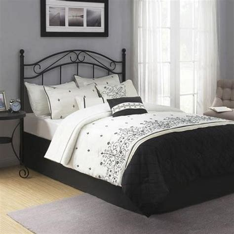 queen bed frame headboard traditional metal black full queen size headboard bed