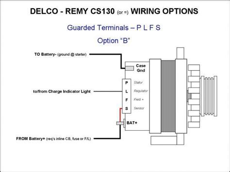 gm cs130 alternator wiring diagram gm 12v alternator