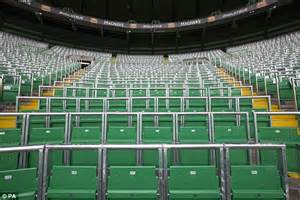 celtic park sections celtic 2 1 wolfsburg bhoys fans use new safe standing