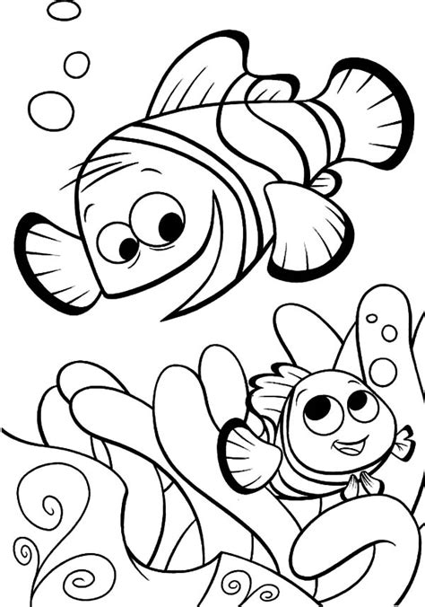 Coloring Pages Fish Nemo by Finding Nemo Fish Coloring Pages Coloring Pages
