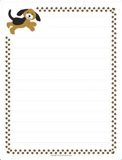 printable writing paper with dogs puppy dog letter paper with paw print borders pet stuff