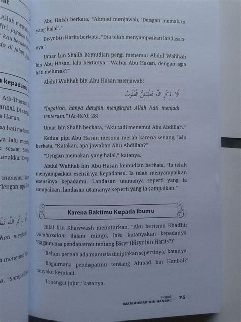 Buku Miracles Of Al Qur An As Sunnah Segel buku biografi imam ahmad kehidupan sikap dan pendapatnya