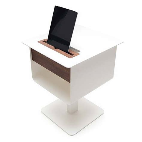 charging station table spell nomad nightstand table boasts integrated charging