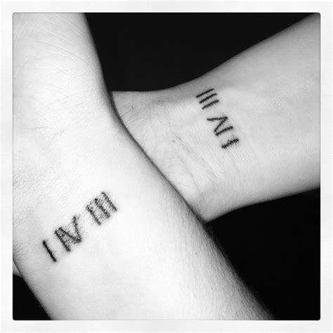 birthday date tattoos instead of numerals them numeric hopefully