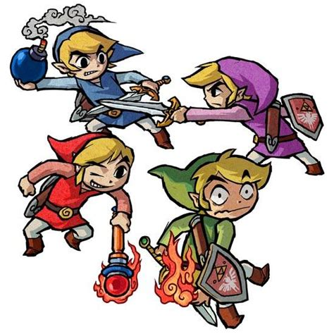legend of four swords the history of the legend of every link