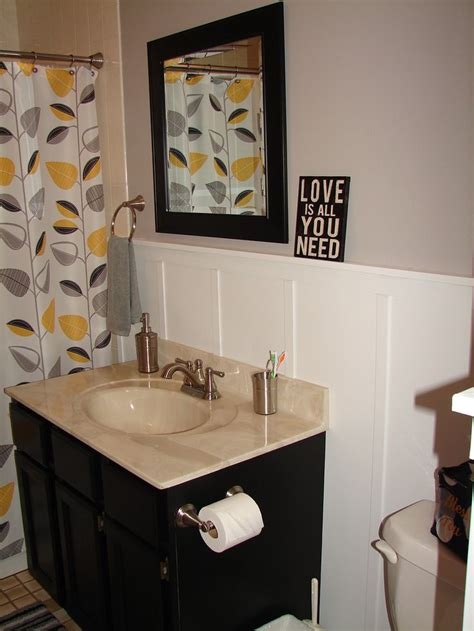 1000 ideas about grey yellow bathrooms on