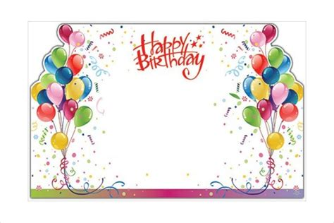 birthday gift card template birthday card templates free premium templates