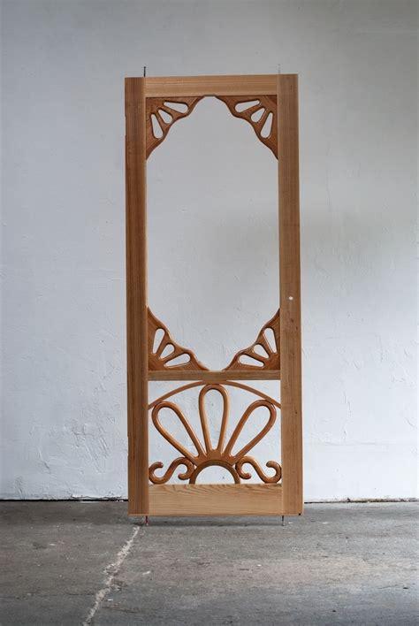 handmade custom wooden screen door  creative openings
