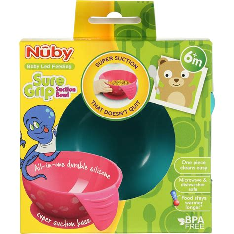 Nuby Sure Grip Suction Bowl Coral shop new products
