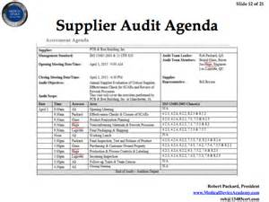 Audit Agenda Template by Remote Auditing And Supplier Auditing Webinar