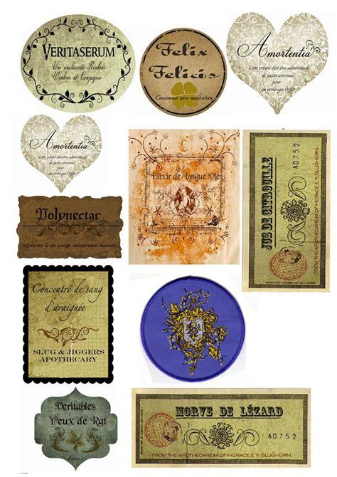 harry potter potion labels templates 233 tiquette potion magique recherche 201 tiquette de