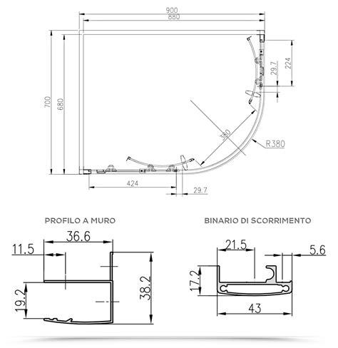 box doccia 70x90 stondato box doccia 70x90 semicircolare stondato cristallo per