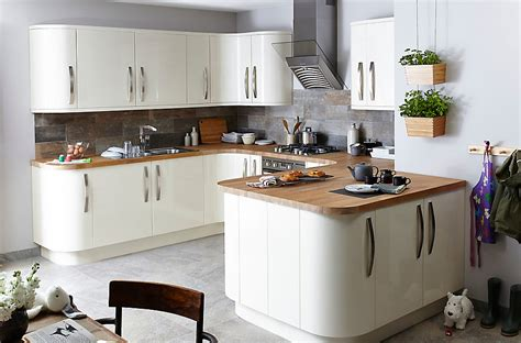 kitchen design b and q it santini gloss cream slab diy at b q kitchen inspo