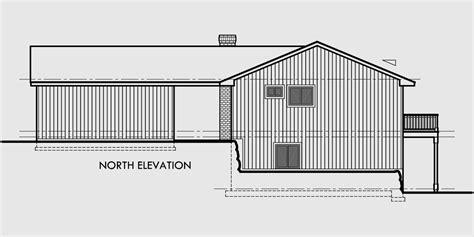 Daylight Basement side sloping lot house plan walkout basement detached garage