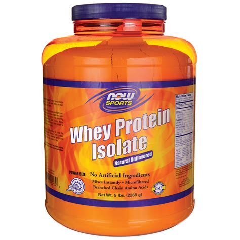 Now Whey Protein Isolate now foods whey protein isolate unflavored 5 lbs pwdr