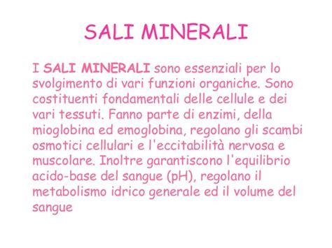 in quali alimenti si trovano i sali minerali molecole biologiche e la dieta mediterranea