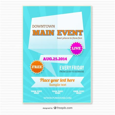 origami poster template vector free download