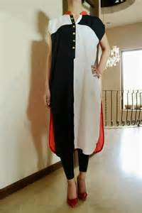 2013 latest girls kurta designs 2013 mono chrome girls kurta designs