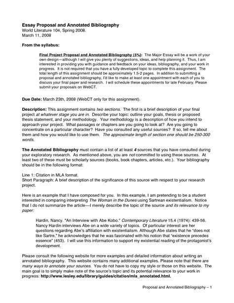 Bibliographic Essay Exle by Bibliographic Essay Exles