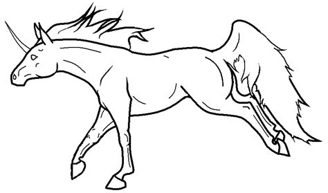 Unicorn Outline by Best Unicorn Outline 2401 Clipartion
