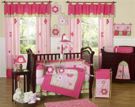 pink and green baby bedding flower pink green baby crib bedding 9pc girl nursery crib set