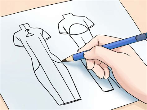 design clothes wikihow the simplest way to draw fashion sketches wikihow