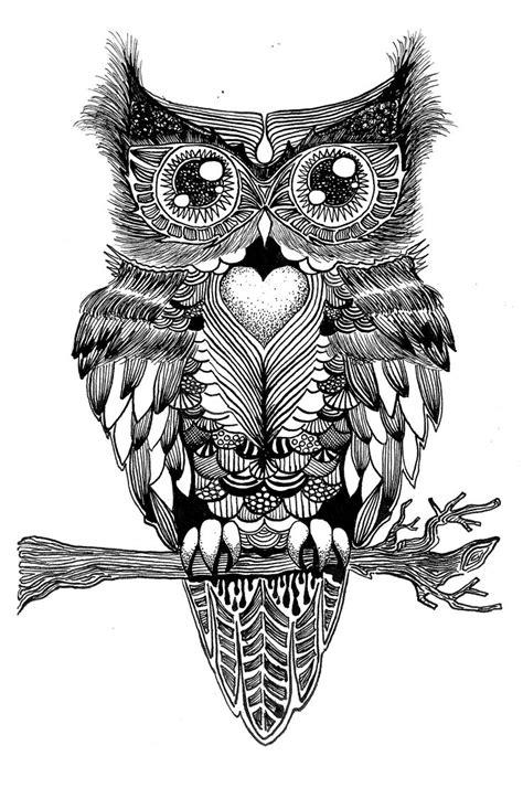 printer voor tattoo symmetrische uil oost indische inkt tekeningen