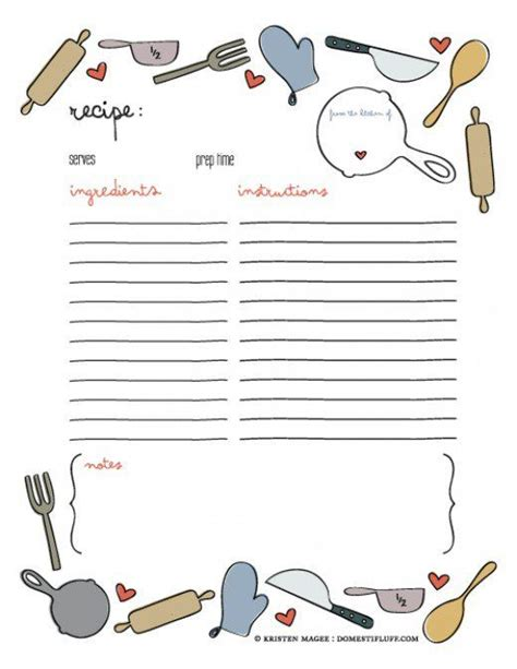 recipe binder kit printables navy recipe book recipe printables