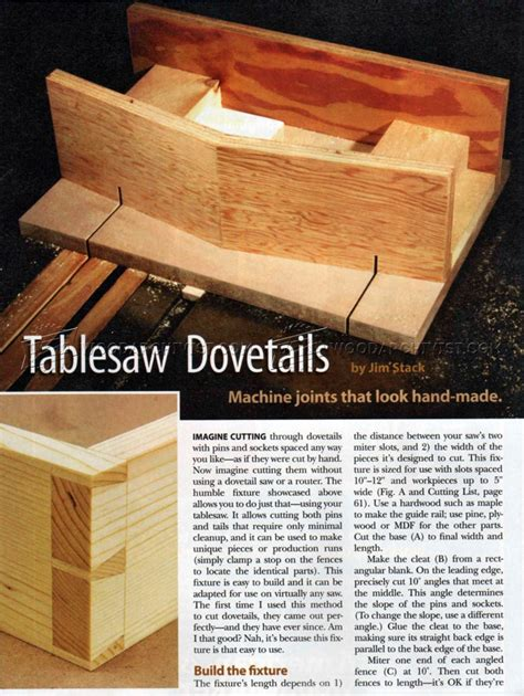table saw dovetail jig woodarchivist