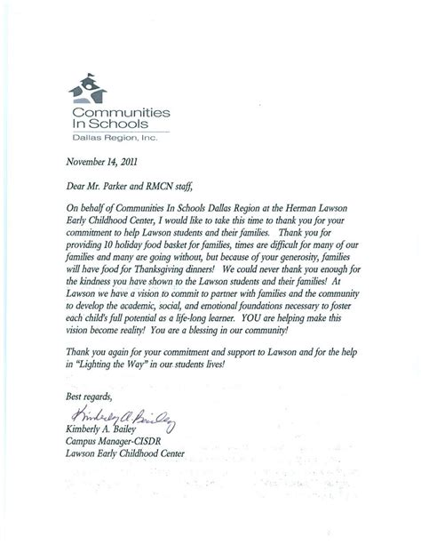 Community Service Thank You Letter Best Photos Of Volunteer Community Service Letter Sle