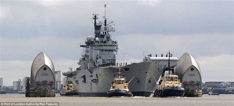 thames barrier vets hms illustrious river thames transit navy net royal