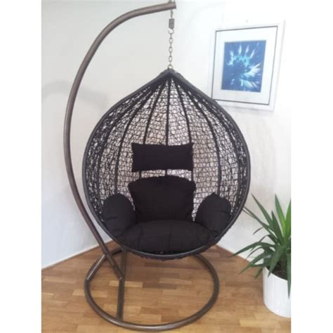 outdoor swing hanging pod trapeze wicker rattan egg chair