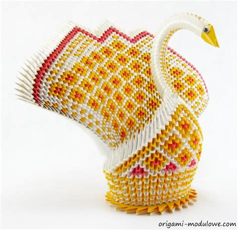 How To Make A Big Origami - modular origami big swan 1 by origamimodulowe on deviantart
