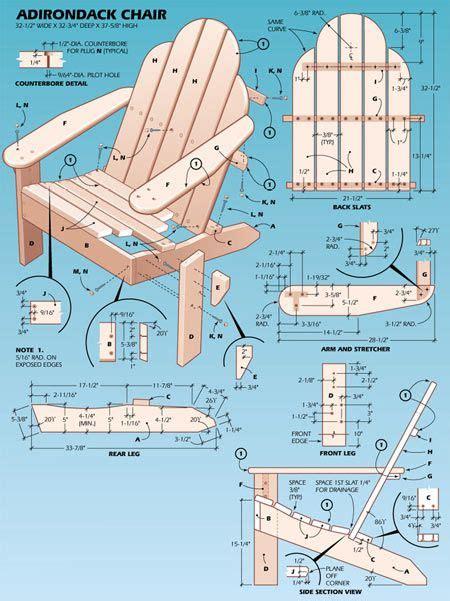 Free woodworking plans adirondack chair plans adirondack chairs
