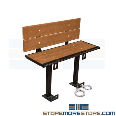 prisoner bench prisoner restraint benches with handcuff rings for
