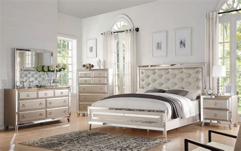 Mirrored Headboard Bedroom Set by Cheap Mirrored Bedroom Furniture Home Design