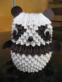 How To Make 3d Origami Panda - 3d origami panda spoki
