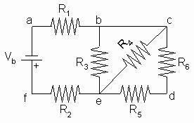 resistors diagonal circuit solving multiloop circuit problems