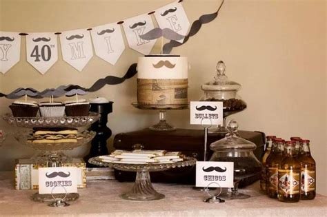 Moustache  Ee  Party Ee   Dessert Buffet For A Th  Ee  Birthday Ee   By