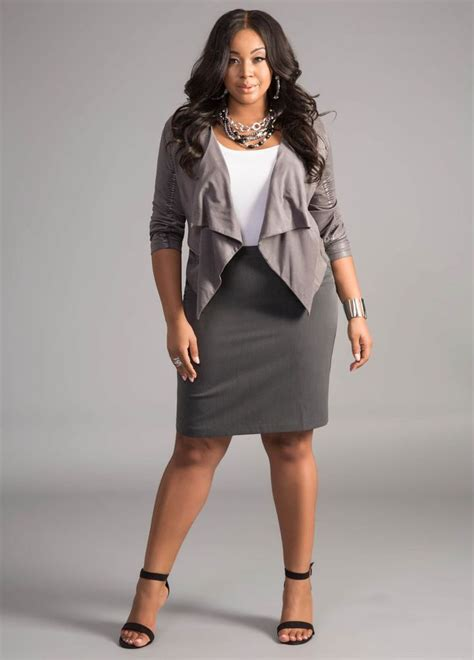 rise in your corporate career with the right plus size clothes