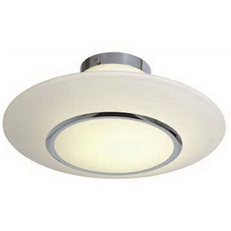 chrome and opal glass semi flush mount ceiling light ebay