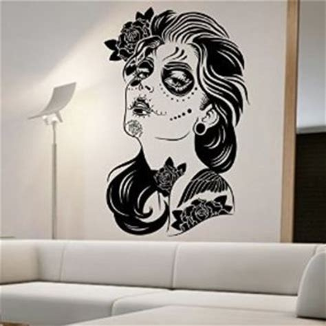 day of the dead home decor day of the dead wall decal roses vinyl from amazon
