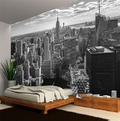 york city skyline black white photo wallpaper wall