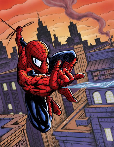 the swinging city spiderman swinging over the city by kaledfwlch on deviantart