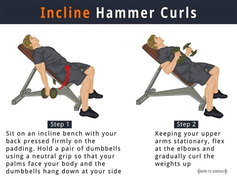 how to do incline bench incline hammer dumbbell curls benefits how to do pictures